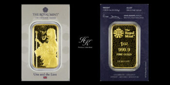 1 oz GOLD BAR Una and the Lion (Royal Mint) Great Britain